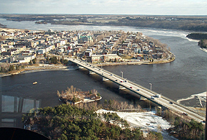 Aerial view of Shawinigan. (Photo - Dwane Wilkin)