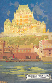 Château Frontenac, from a painting by Gillespie. (Photo - Farfan Collection)