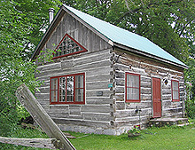 Square-log cabin, Philipsburg. (Photo - Matthew Farfan)