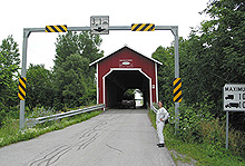 Des Rivières Covered Bridge. (Photo - Matthew Farfan)